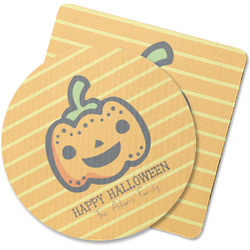 Halloween Pumpkin Rubber Backed Coaster (Personalized)