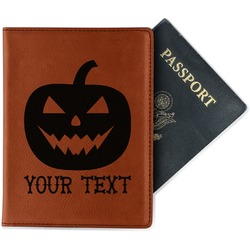 Halloween Pumpkin Leatherette Passport Holder (Personalized)