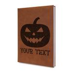 Halloween Pumpkin Leatherette Journal (Personalized)