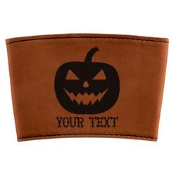 Halloween Pumpkin Leatherette Mug Sleeve (Personalized)