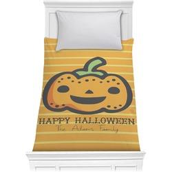 Halloween Pumpkin Comforter - Twin (Personalized)