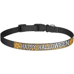 Halloween Pumpkin Dog Collar - Large (Personalized)