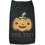Halloween Pumpkin Black Pet Shirt (Personalized)