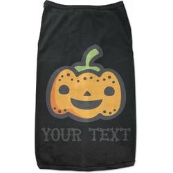 Halloween Pumpkin Black Pet Shirt (Personalized)
