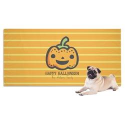 Halloween Pumpkin Dog Towel (Personalized)