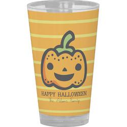 Halloween Pumpkin Drinking / Pint Glass (Personalized)