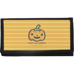 Halloween Pumpkin Canvas Checkbook Cover (Personalized)