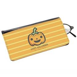 Halloween Pumpkin Genuine Leather Eyeglass Case (Personalized)
