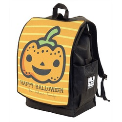 Halloween Pumpkin Backpack w/ Front Flap  (Personalized)