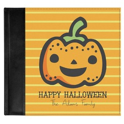 Halloween Pumpkin Genuine Leather Baby Memory Book (Personalized)