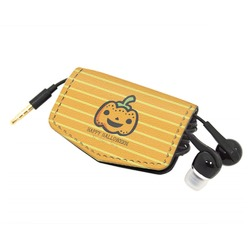 Halloween Pumpkin Genuine Leather Cord Wrap (Personalized)