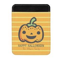 Halloween Pumpkin Genuine Leather Money Clip (Personalized)