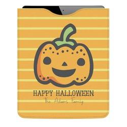 Halloween Pumpkin Genuine Leather iPad Sleeve (Personalized)