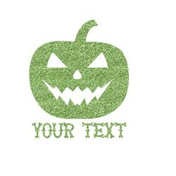 Halloween Pumpkin Glitter Iron On Transfer- Custom Sized (Personalized)