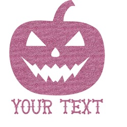 "Halloween Pumpkin Glitter Sticker Decal - Up to 9""X9"" (Personalized)"