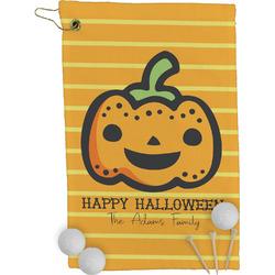 Halloween Pumpkin Golf Towel - Full Print (Personalized)