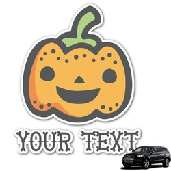 Halloween Pumpkin Graphic Car Decal (Personalized)