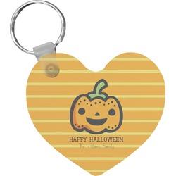 Halloween Pumpkin Heart Keychain (Personalized)