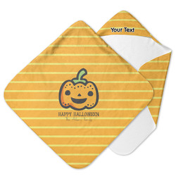 Halloween Pumpkin Hooded Baby Towel (Personalized)