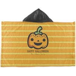 Halloween Pumpkin Kids Hooded Towel (Personalized)