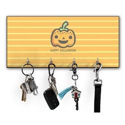 Halloween Pumpkin Key Hanger w/ 4 Hooks (Personalized)