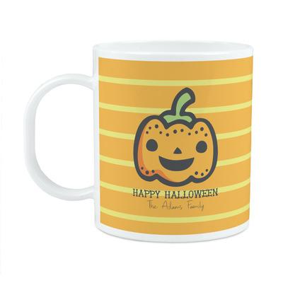 Halloween Pumpkin Plastic Kids Mug (Personalized)