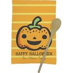 Halloween Pumpkin Kitchen Towel - Full Print (Personalized)