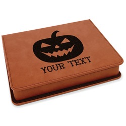 Halloween Pumpkin Leatherette 4-Piece Wine Tool Set (Personalized)