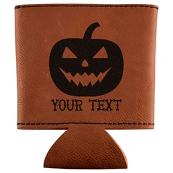 Halloween Pumpkin Leatherette Can Sleeve (Personalized)