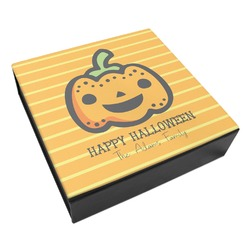 Halloween Pumpkin Leatherette Keepsake Box - 3 Sizes (Personalized)