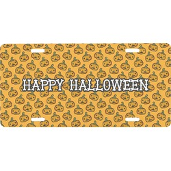 Halloween Pumpkin Front License Plate (Personalized)