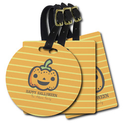 Halloween Pumpkin Plastic Luggage Tags (Personalized)