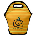 Halloween Pumpkin Lunch Bag w/ Name or Text