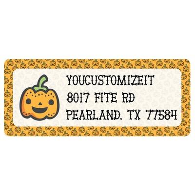 Halloween Pumpkin Return Address Labels (Personalized)