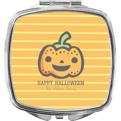 Halloween Pumpkin Compact Makeup Mirror (Personalized)