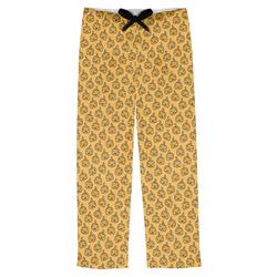 Halloween Pumpkin Mens Pajama Pants (Personalized)