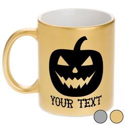 Halloween Pumpkin Metallic Mug (Personalized)