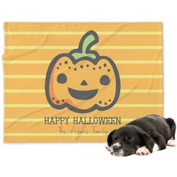 Halloween Pumpkin Minky Dog Blanket (Personalized)