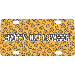 Halloween Pumpkin Mini / Bicycle License Plate (Personalized)