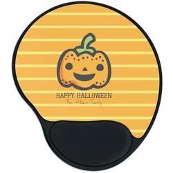 Halloween Pumpkin Mouse Pad with Wrist Support