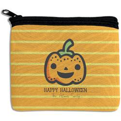 Halloween Pumpkin Rectangular Coin Purse (Personalized)