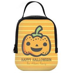 Halloween Pumpkin Neoprene Lunch Tote (Personalized)