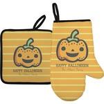 Halloween Pumpkin Oven Mitt & Pot Holder (Personalized)
