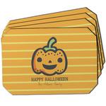 Halloween Pumpkin Dining Table Mat - Octagon w/ Name or Text