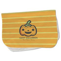 Halloween Pumpkin Burp Cloth - Fleece w/ Name or Text