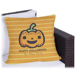 Halloween Pumpkin Outdoor Pillow (Personalized)