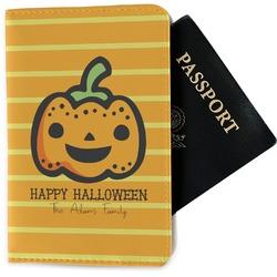 Halloween Pumpkin Passport Holder - Fabric (Personalized)