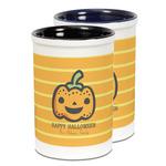 Halloween Pumpkin Ceramic Pencil Holder - Large