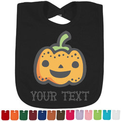 Halloween Pumpkin Bib - Select Color (Personalized)