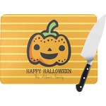 Halloween Pumpkin Rectangular Glass Cutting Board (Personalized)